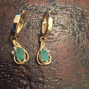 Jewelry - 14k Emerald Dangles